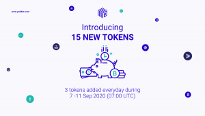 Adding 15 New Tokens This Week (7–11Sep)