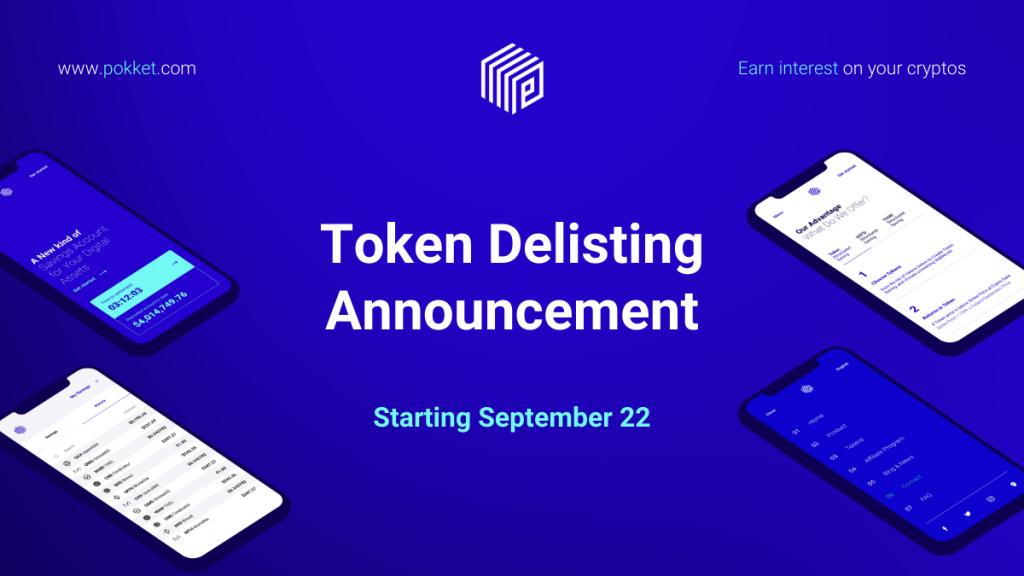 Token Delisting Announcement (Sep 2020)