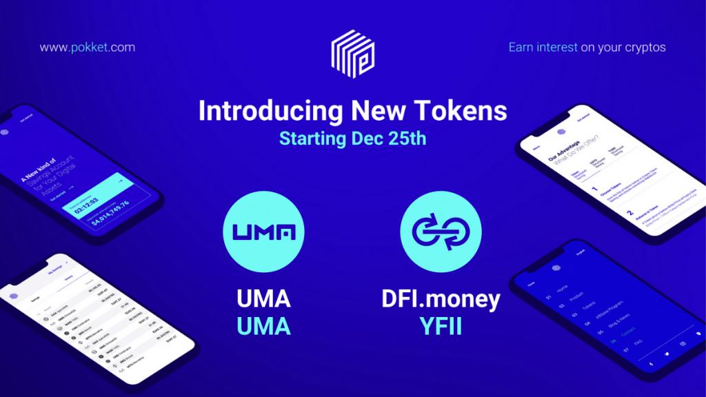 New Token Listing: UMA (UMA) and DFI.Money (YFII)